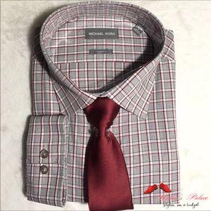 Michael Kors Slim Fit Long Sleeve Shirt & Tie
